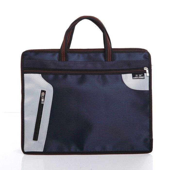 【最新潮流時尚】建騰 定制公文袋A4手提文件袋加厚男女士多層帆布文件包資料拉鏈