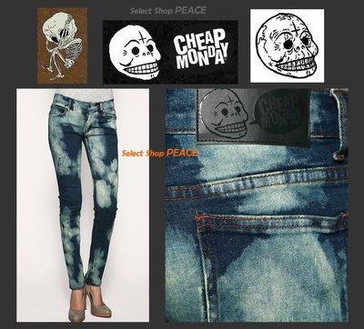 Cheap Monday 瑞典【現貨】26/28/29吋 窄管 彈性牛仔褲 Acid Bleached