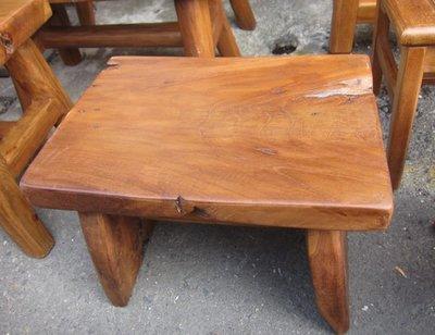 自然風~印尼老柚木日式風小板凳~