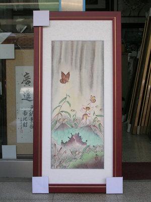 [ 丁銘畫廊 ]    荷花 - 和和氣氣 - 荷包滿滿 - 清香萬里-細緻-純手工畫-國畫原作品-尺寸特別-含裱框價格