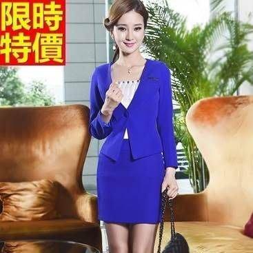 OL套裝 長袖裙裝商務辦公上班族-純色簡約修身女西裝外套制服2色66x40[獨家進口][米蘭精品]