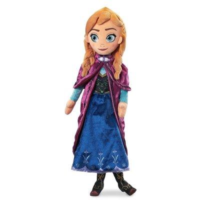 【美國迪士尼正品】Disney Princess 冰雪奇緣 Frozen Anna 安娜公主 可愛布偶娃娃 絨毛玩偶