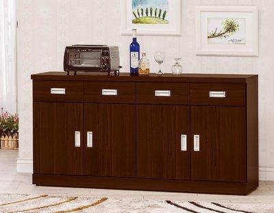 【南洋風休閒傢俱】精選餐櫃系列-碗盤櫃組 餐櫃 櫥櫃 收納櫃-凱特胡桃5.3尺碗碟櫃CY354-725