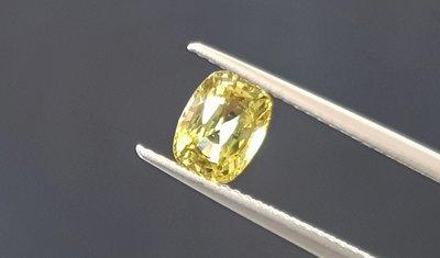 揚邵一品1.46克拉 錫蘭金綠玉寶石 高品質 淨度好 閃亮亮綠黃色~斯里蘭卡產  色澤濃郁火光閃耀動人