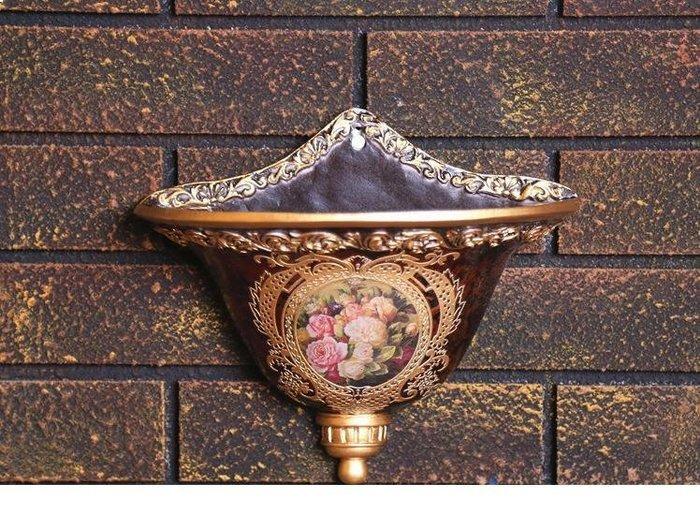 粉紅玫瑰精品屋~歐式高檔宮廷客廰壁掛花瓶~