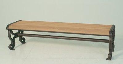 [晴品戶外休閒傢俱館]塑木公園椅三人座 塑木長板凳 塑木公園椅凳