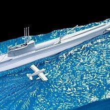 Hobby Fan 1/350 HF095 日本海軍 I-58/I-19 潛艦水景地台 (潛艦另購SE73506)