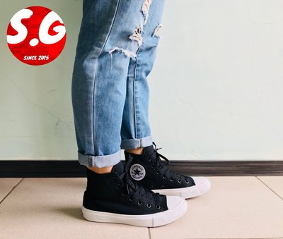 S.G CONVERSE CHUCK TAYLOR ALL STAR 2 黑 高筒 男鞋 女鞋 帆布鞋 150143C
