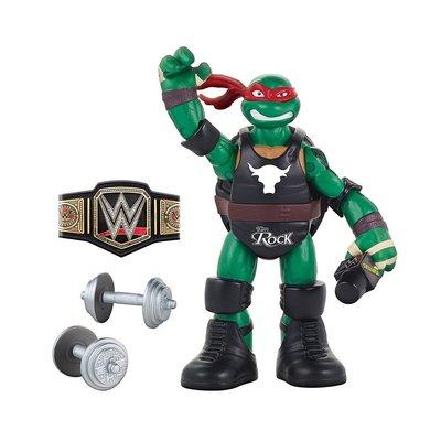 ☆阿Su倉庫☆WWE The Rock Mutant Ninja Turtles TMNT巨石強森忍者龜聯名款人偶公仔