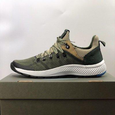 Timberland新款飛行潮運動鞋男鞋|A1O13 飛織休閒鞋 綠色 39-44碼