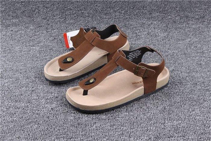 香港OUTLET代購 戶外沙灘鞋 休閒鞋 夏季涼鞋 反絨牛皮 人字拖 平底 歐美風格 橡膠耐磨 夾腳拖 羅馬鞋