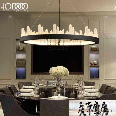 樂燈后現代北歐簡約客廳臥室創意大氣個性風格燈具圓形水晶大吊燈【天下家居】