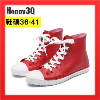 防水帆布鞋中筒雨鞋短筒雨靴時尚雨鞋女生雨靴防水短靴-多款36-41【AAA2188】預購