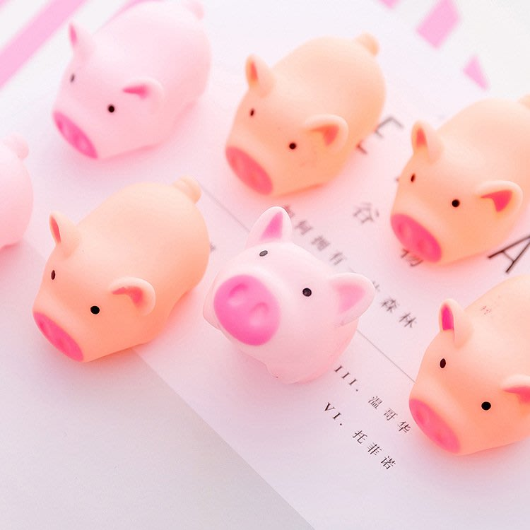 萌可愛小豬豬捏捏樂發泄球整蠱玩具解壓可愛小豬發聲出氣減壓玩具