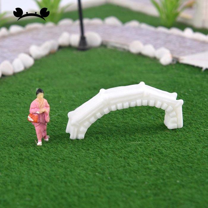 滿250發貨)SUNNY雜貨-白色拱橋 微景觀裝飾 建筑模型材料沙盤DIY手工擺件#模型#建築材料#DIY