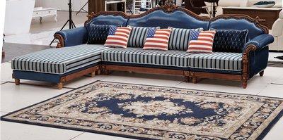 【大熊傢俱】901 玫瑰系列 歐式  皮沙發 美式皮沙發 休閒沙發 多件沙發組 雕花 布沙發 絨布沙發歐式沙發