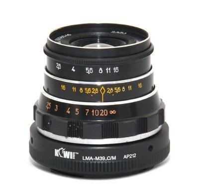 專業級 Leica M39 鏡頭轉 EOS M M5 M10 機身 專用 機身鏡頭 轉接環 KW85 清倉 特價