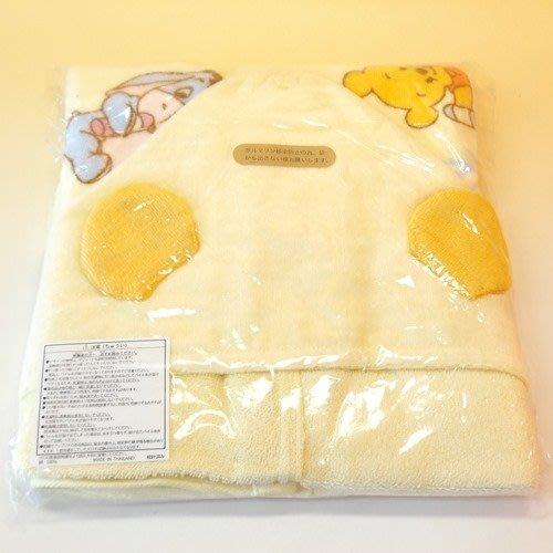 Ariel's Wish-日本東京迪士尼阿卡將Disney小熊維尼跳跳虎小豬伊耳baby小嬰兒小朋友連帽式浴巾浴袍披肩