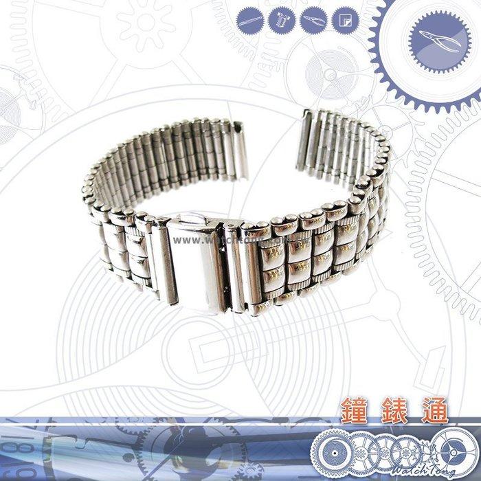 【鐘錶通】板折帶 金屬錶帶 B4716G - 16mm