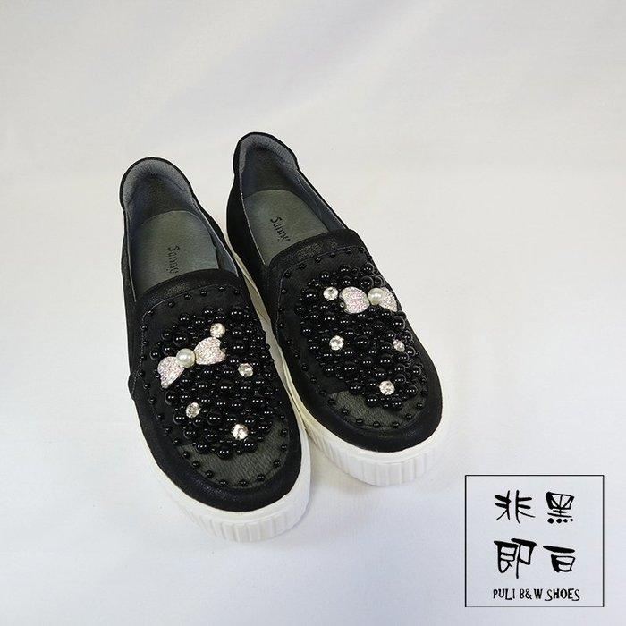 【非黑即白】韓系波霸透氣鬆糕休閒鞋 平底鞋 散步鞋 2260318
