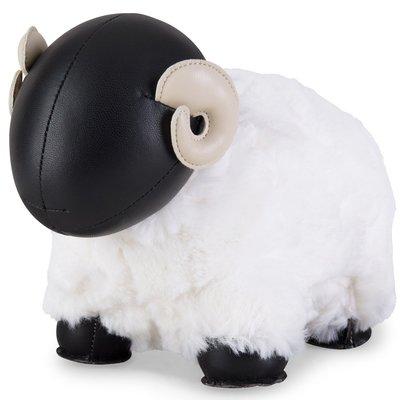 Zuny 綿羊造型書檔 Bomy II 黑頭白毛,動物造型的皮革書擋,生日禮物家居擺飾,idea-dozen創意達人
