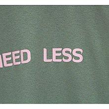 { POISON } LESS NEED LESS TEE 極簡LOGO設計短TEE