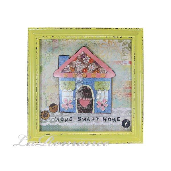 【芮洛蔓 La Romance】花朵點點系列 - 小木屋鐵製木板畫 / 掛飾 / 畫飾