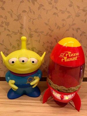 全新 威秀影城玩具總動員4比薩星球爆米花筒三眼怪飲料杯