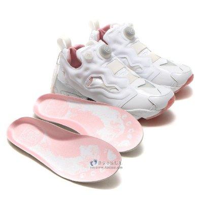 REEBOK INSTA PUMP FURY X EPITOME 充氣慢跑鞋 白色 白粉 白銀 BD5374 男女款斷碼