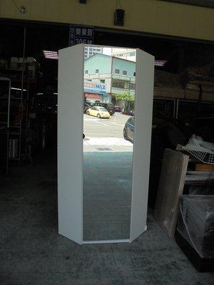 ㊣樂業二手貨/二手商品買賣廣場㊣ IKEA 簡雅生活白色六角造型/轉角衣櫃 (附全身鏡)