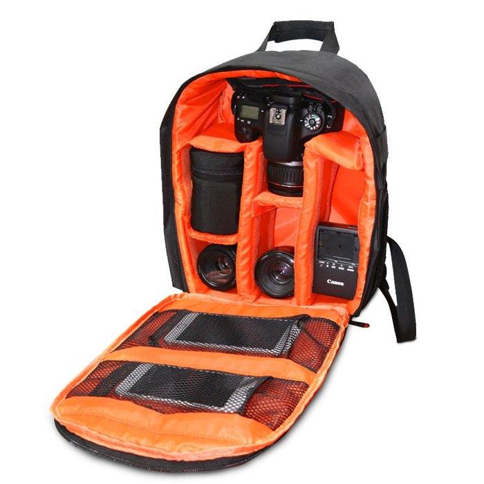 奇奇店-攝影相機包單反相機包 數碼相機背包 小型單反包相機內膽雙肩背包