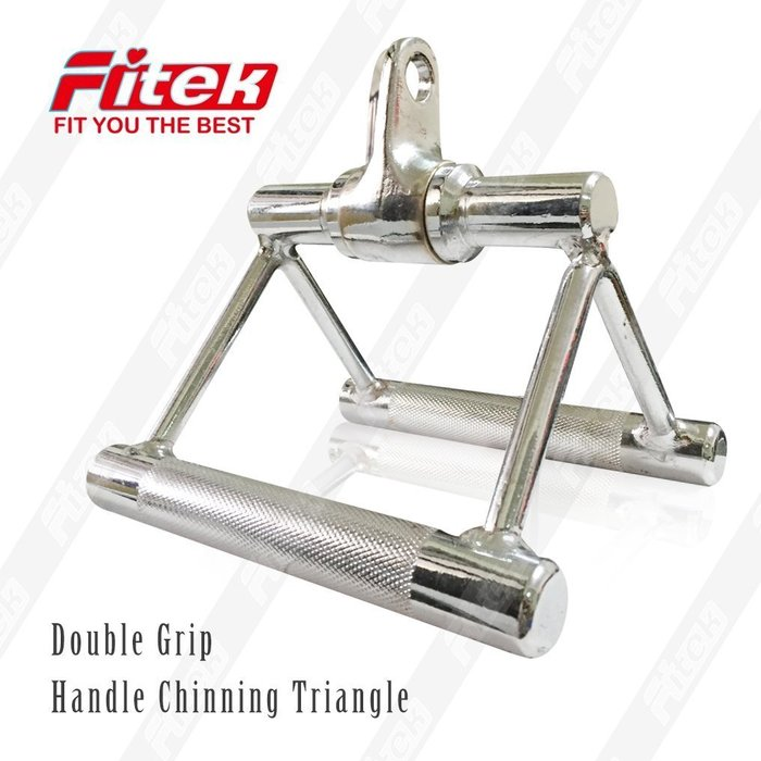 【Fitek 健身網】重訓配件☆實心 轉環三角拉桿☆雙V型拉桿☆適用於各式重量訓練機/滑輪下拉機