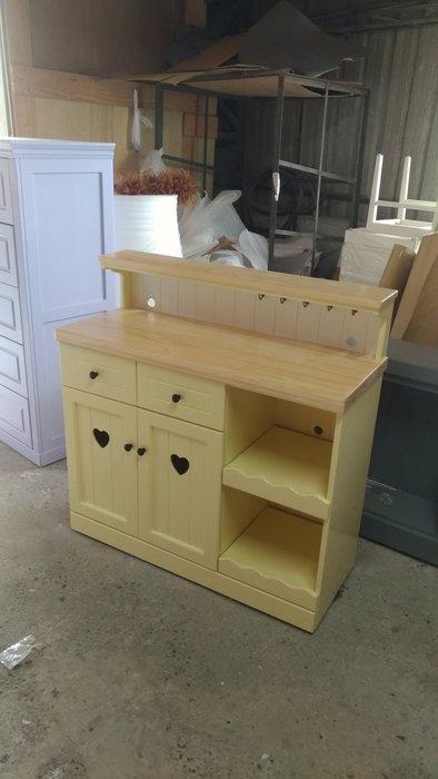 戀戀小木屋  溫暖黃色電器櫃 收納櫃 客製款