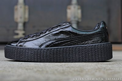 【HYDRA】Rihanna Puma Creeper Fenty 黑 漆皮 亮面 蕾哈娜 鬆糕鞋【364465-01】