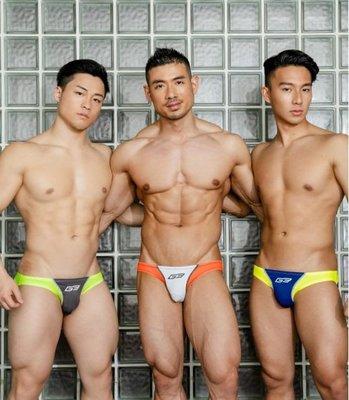 GX3日本進口.【K1206】【L.XL號】螢光救生員仿泳褲銷身男士內褲.Jn男潮內著
