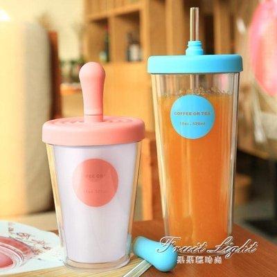 ☜男神閣☞寶寶水杯 兒童水杯寶寶喝水杯子帶吸管防摔口杯可愛果汁杯小孩牛奶杯