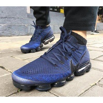 Nike Air VaporMax Flyknit 藍黑 海軍藍 全氣墊 849558-400 男慢跑鞋