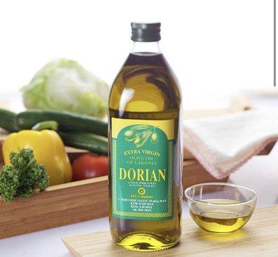 神的禮物-特級冷壓橄欖油─1瓶裝Dorian Extra Virgin Olive Oil -1 L 產地地中海拉科尼亞