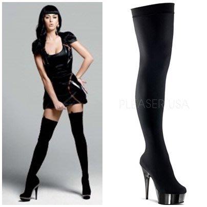 好萊塢明星凱蒂派芮穿搭款~膝上皮革長靴~(歐美明星最愛~(鋼管舞/車模/國標/夜店/艷舞/cosplay)~美國空運 Pleaser精品高跟鞋