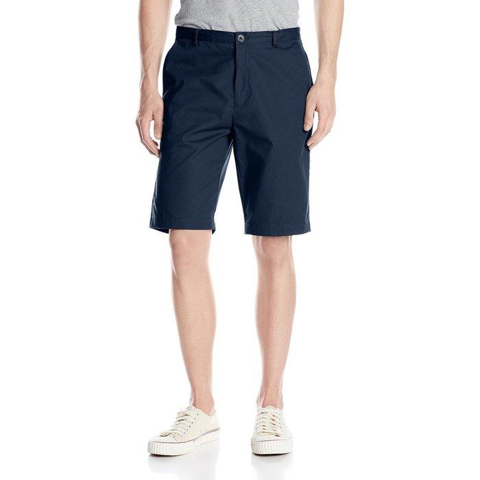 美國百分百【全新真品】Calvin Klein 短褲 CK 休閒褲 百慕達褲 五分褲 9吋 深藍 36腰 G519