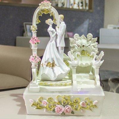 5Cgo 【宅神】含稅會員有優惠43542426367 閨蜜創意實用結婚禮物送禮流水噴泉擺件新婚慶訂婚禮品夢幻結婚場景加