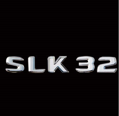 金螃蟹賓士 R170 後車箱鍍鉻字體  SLK32  SLK200 SLK 230 SLK