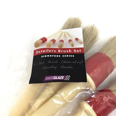 『好蠟』Raceglaze Set of 5 Detailing Brushes 細節清潔毛刷5件組 英國原裝進口