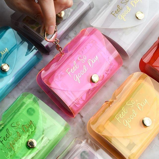 ♀高麗妹♀韓國 PLEPIC SHINE CARD BOOK 沁涼果凍 釦式卡片收納夾26入 證件/信用卡/名片(預購)