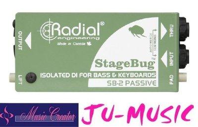 造韻樂器音響- JU-MUSIC - StageBug SB-2 DI 48V幻象供電 無須電池『公司貨,免運費』