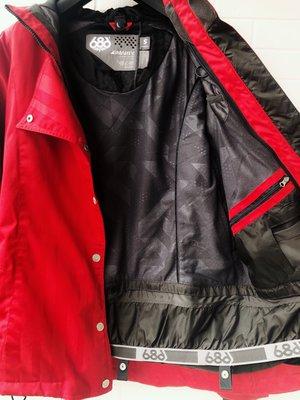 $1599起標 686 SMARTY 雙層拉鏈側透氣孔女用紅色登山外套