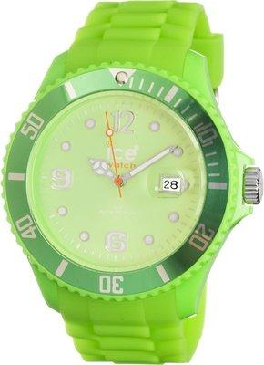 [永達利鐘錶 ] ICE watch 亮綠色膠帶日期錶 SI.GN.B.S.09 原廠公司保固24個月 42mm