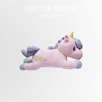 【現貨】粉紫獨角獸 獨角獸抱枕 獨角獸 抱枕 靠墊 坐墊 靠墊 仿真抱枕 仿真 抱枕 公仔 賈斯特博物館