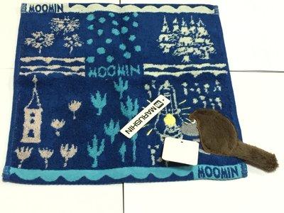 日本嚕嚕咪 藍色小毛巾