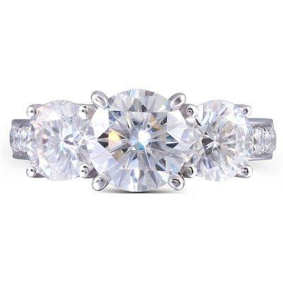 經典3.1克拉18K金鑽石戒指 (莫桑石、摩星鑽、美神來 生日禮物 定情 鑽石品質)